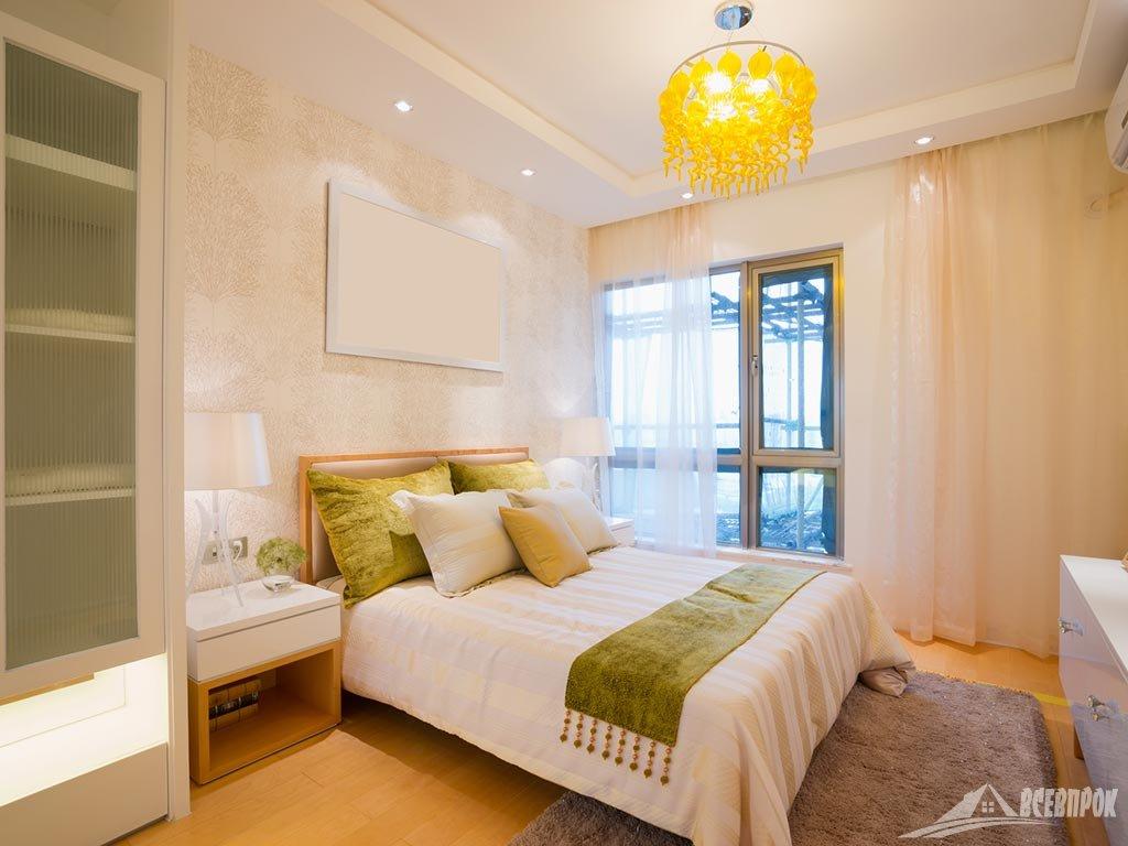 Простой дизайн спальни фото