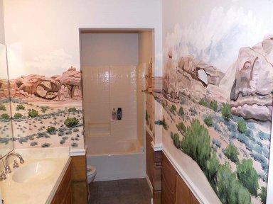 Преимущества фотообоев для ванной комнаты
