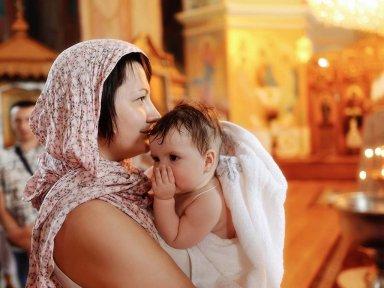 Подготовка к крещению девочки