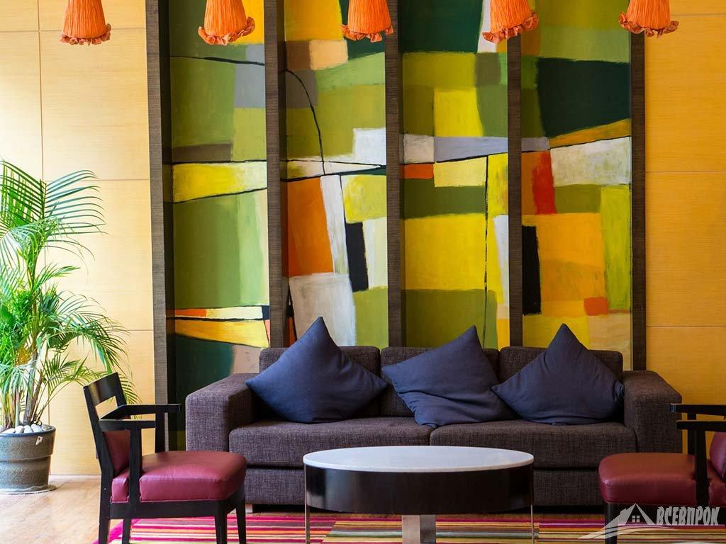 интерьер в стиле фьюжн цвета